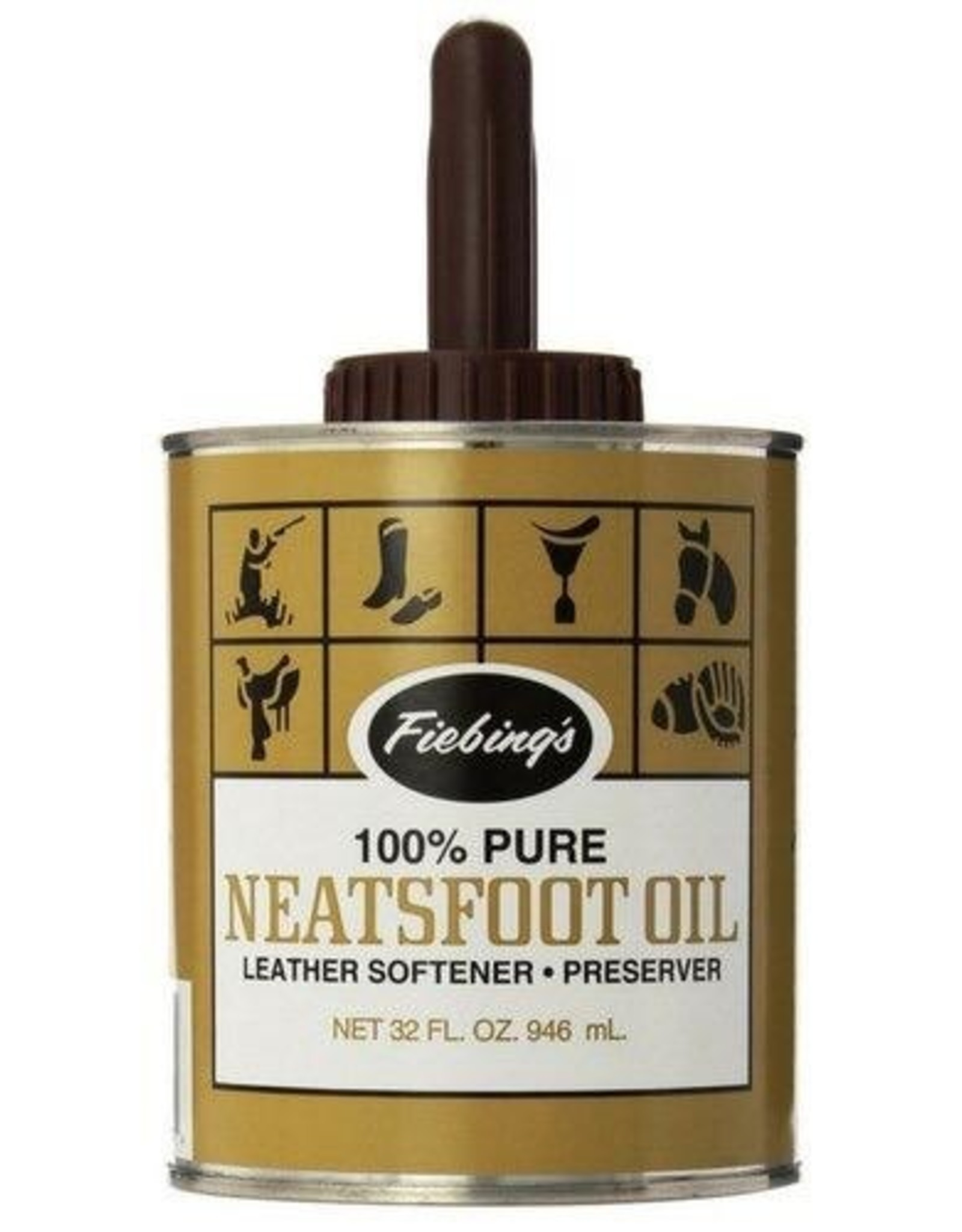 Fiebing's Pure Neatsfoot Oil w/Applicator - 32oz