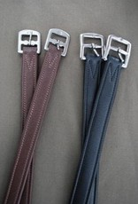 """KL Select Stirrup Leathers 7/8"""" Brown"""