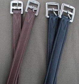 "Red Barn KL Select Stirrup Leathers 1"" Black"