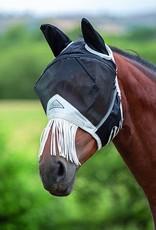 Shires Fine Mesh Fly Mask - Nose Fringe & Ears