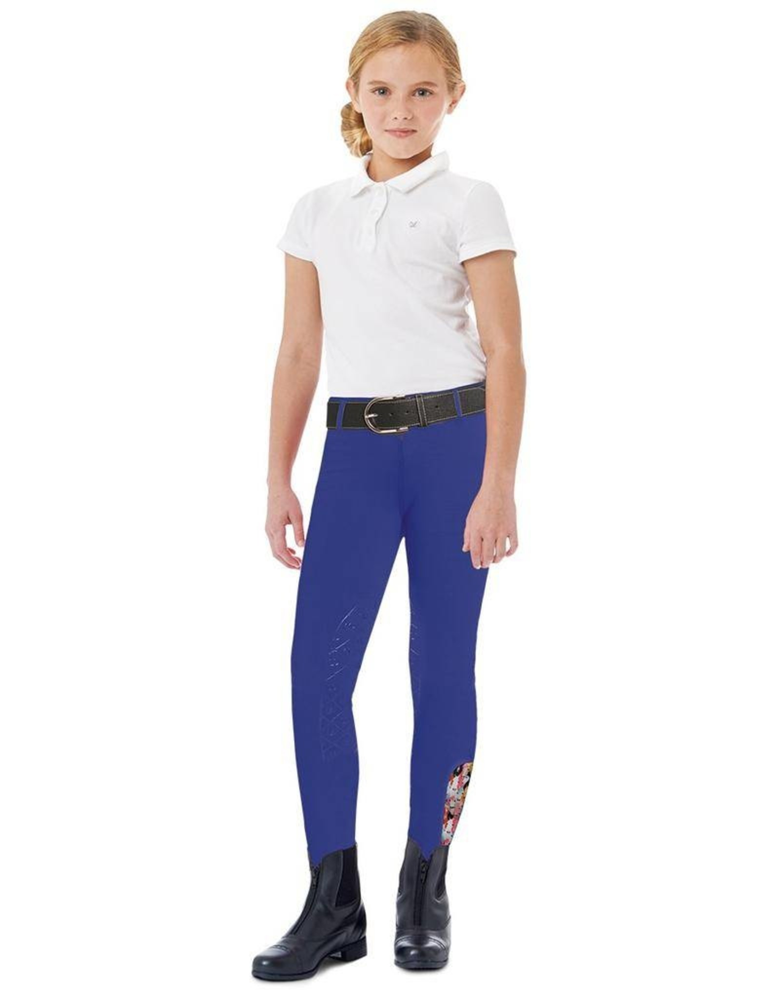 Ovation Kids' AeroWick Silicone Knee Patch Tights