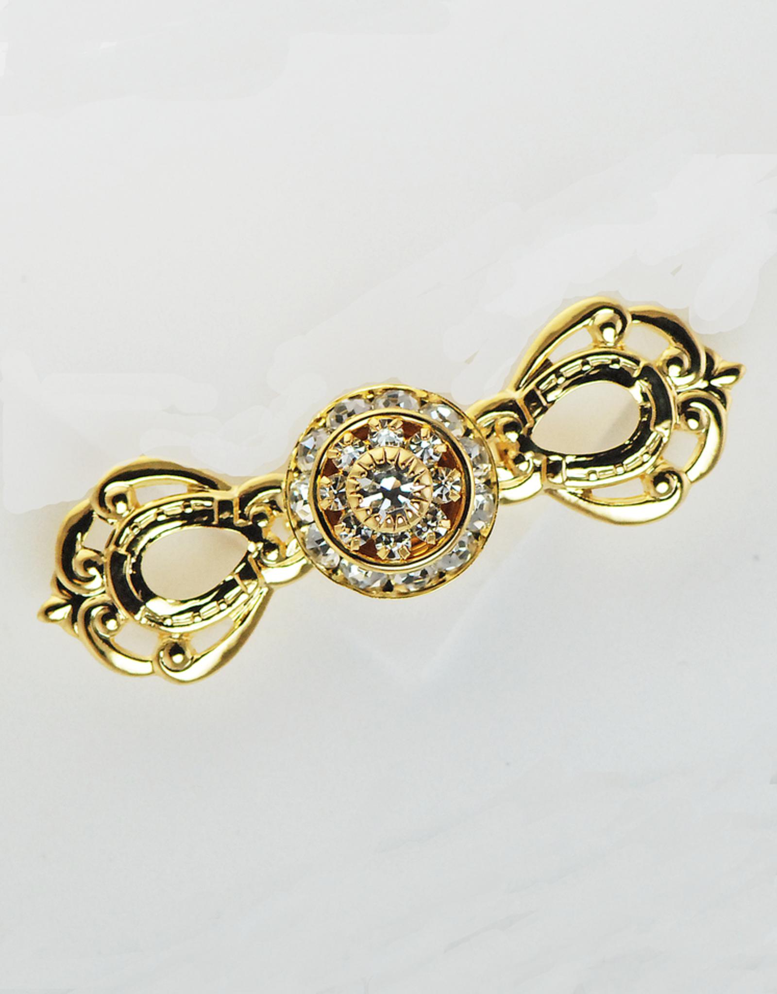Horseshoe Bow Gold Stock Pin