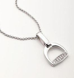 Stirrup & Cubic Zirconia Necklace