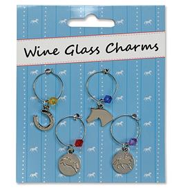 Kelley Equestrian Wine Glass Charms