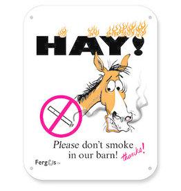 No Smoking Barn Sign