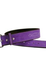 "Rebecca Ray Designs Rebecca Ray 2"" Suede Bridle Stitch Belt"