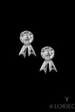 Tiny Rosette Earrings by Loriece