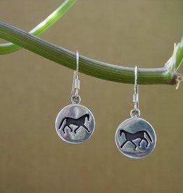 Baron Silhouette Horse Earrings