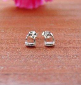Baron Tiny Stirrup Horse Stud Earrings