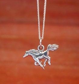 Baron Mustang Horse Pendant Necklace