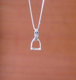Tiny Stirrup Pendant Necklace