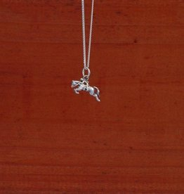 Hunter Jumper Horse Pendant Necklace