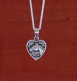 Baron Heart Horse Pendant Necklace