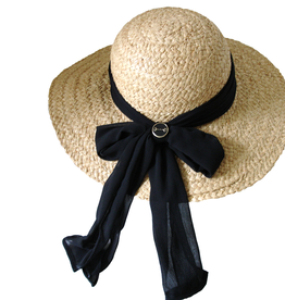 Snaffle Bit Wide Brim Raffia Hat