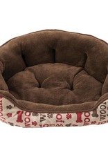 """Woof Scallop Shape 24"""" Dog Bed"""