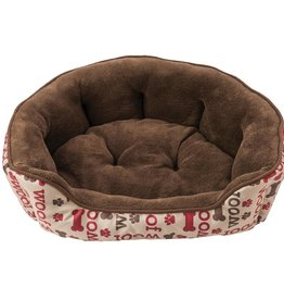 "Woof Scallop Shape 24"" Dog Bed"