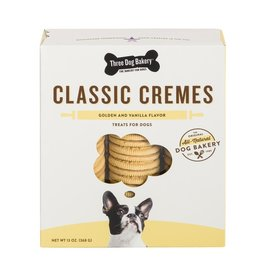 Three Dog Bakery Classic Cremes with Vanilla Flavor Filling - 13oz