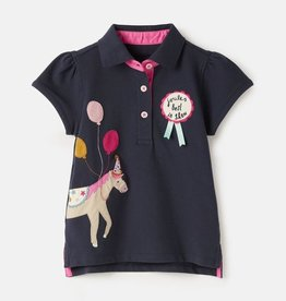 Joules Kids Moxie Navy Horse Polo