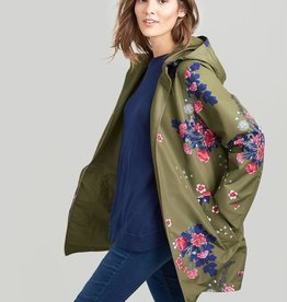 Joules Ladies' Dockland Reversible Waterproof Raincoat