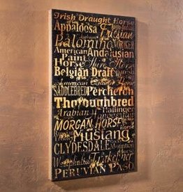 Timeless By Design Horse Breeds Burlap Canvas