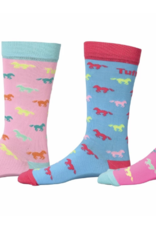 TuffRider Kids Neon Pony Socks - 3 pack