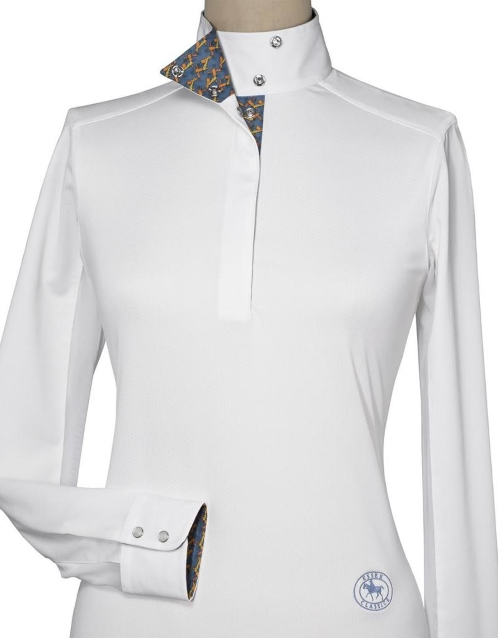 Essex Ladies' Talent Yarn Wrap Collar Show Shirt With Carrots