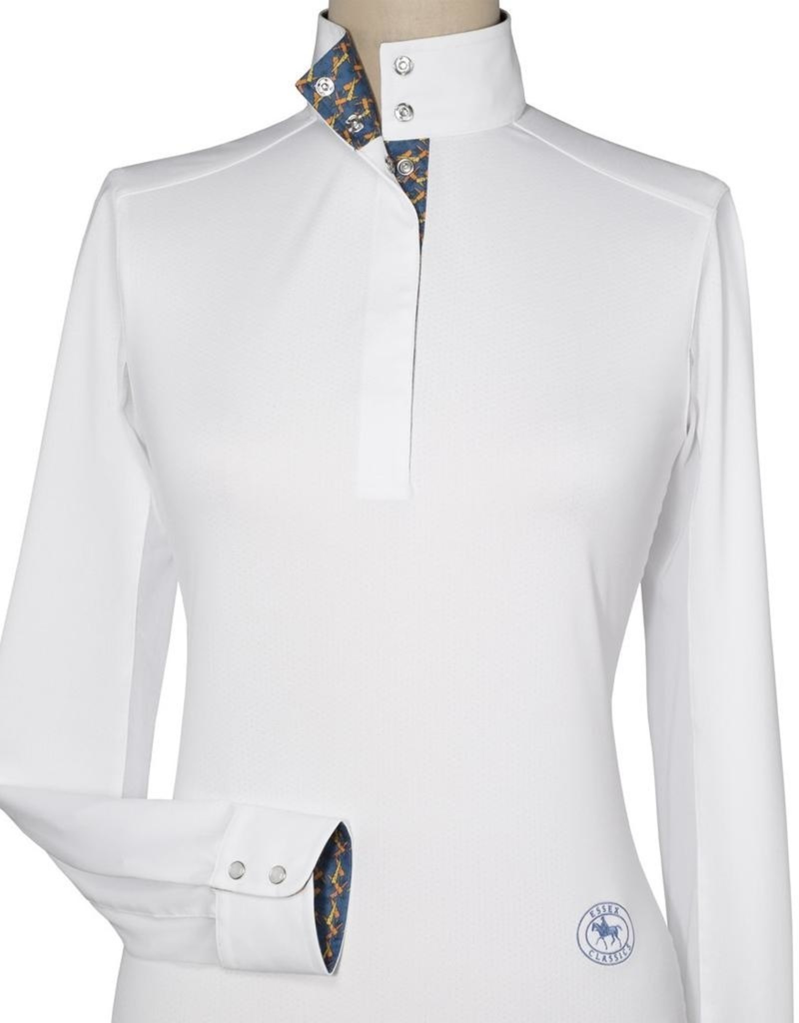 Essex Ladies' Talent Yarn Straight Collar Show Shirt With Carrots