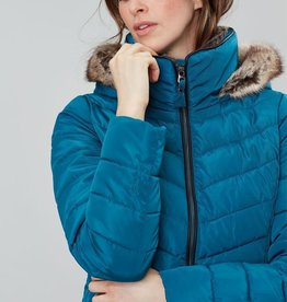 Joules Gosway Chevron Quilt Padded Coat With Hood