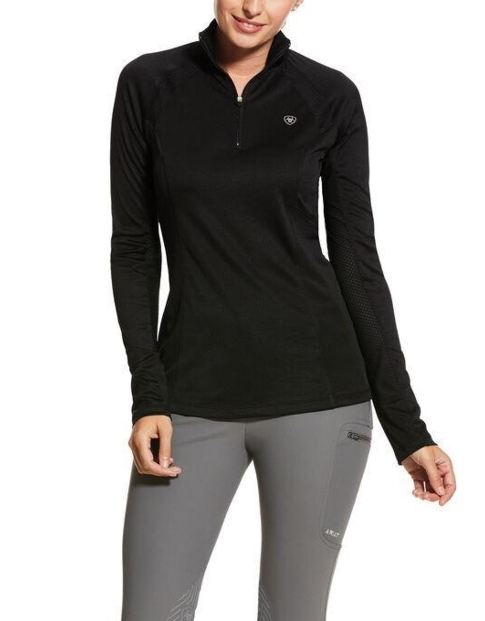 Ariat Ladies' Sunstopper 2.0 1/4 Zip Baselayer Shirt