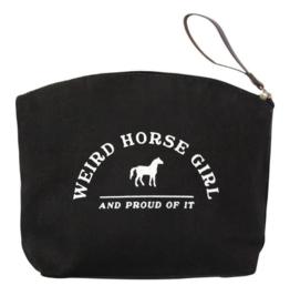 Spiced Equestrian Weird Horse Girl Makeup Bag
