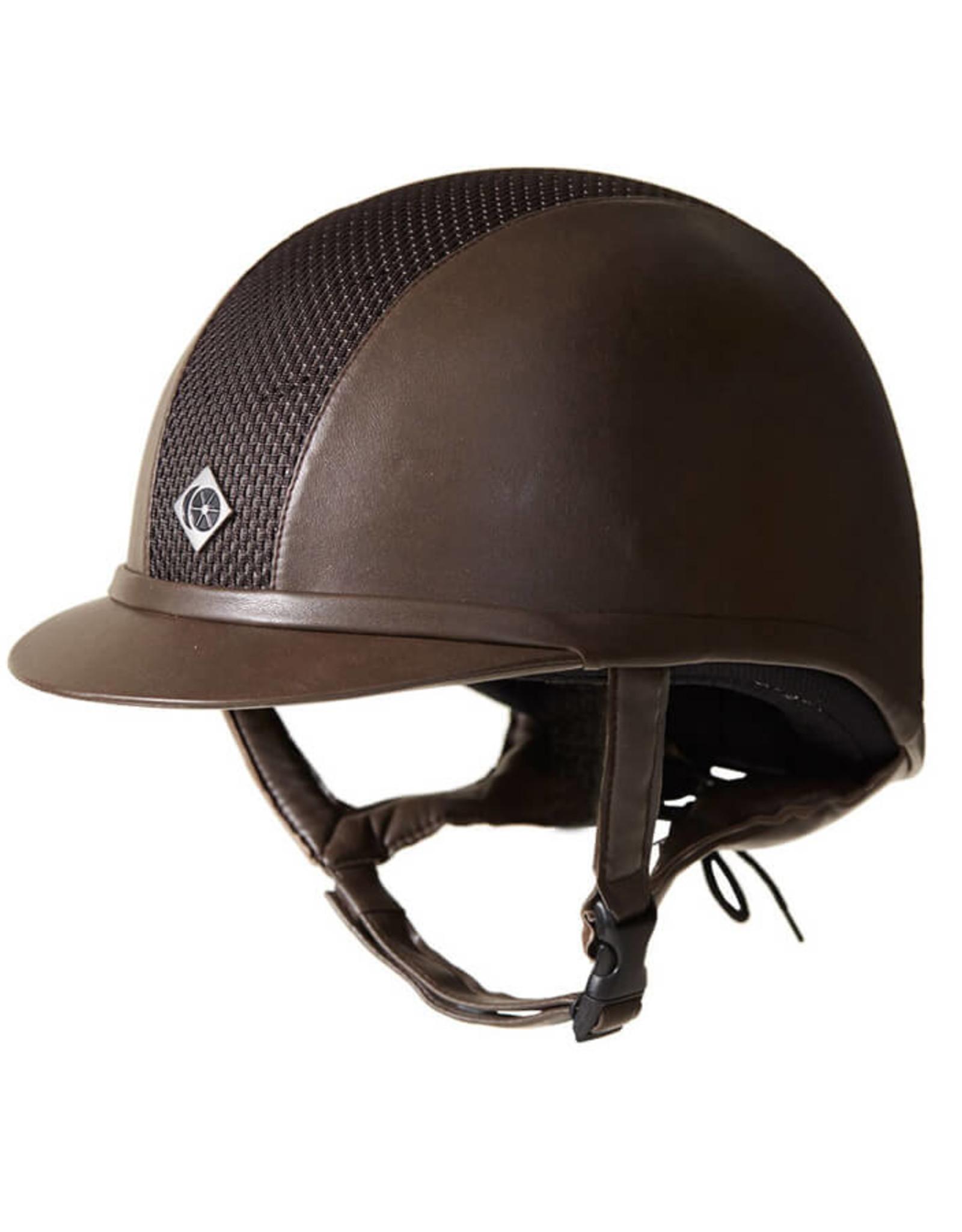 Charles Owen AYR8 Plus Leather Look Helmet