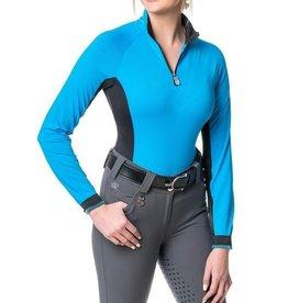 Kastel Denmark Ladies' 1/4 Zip Sun Shirt With Black Accent