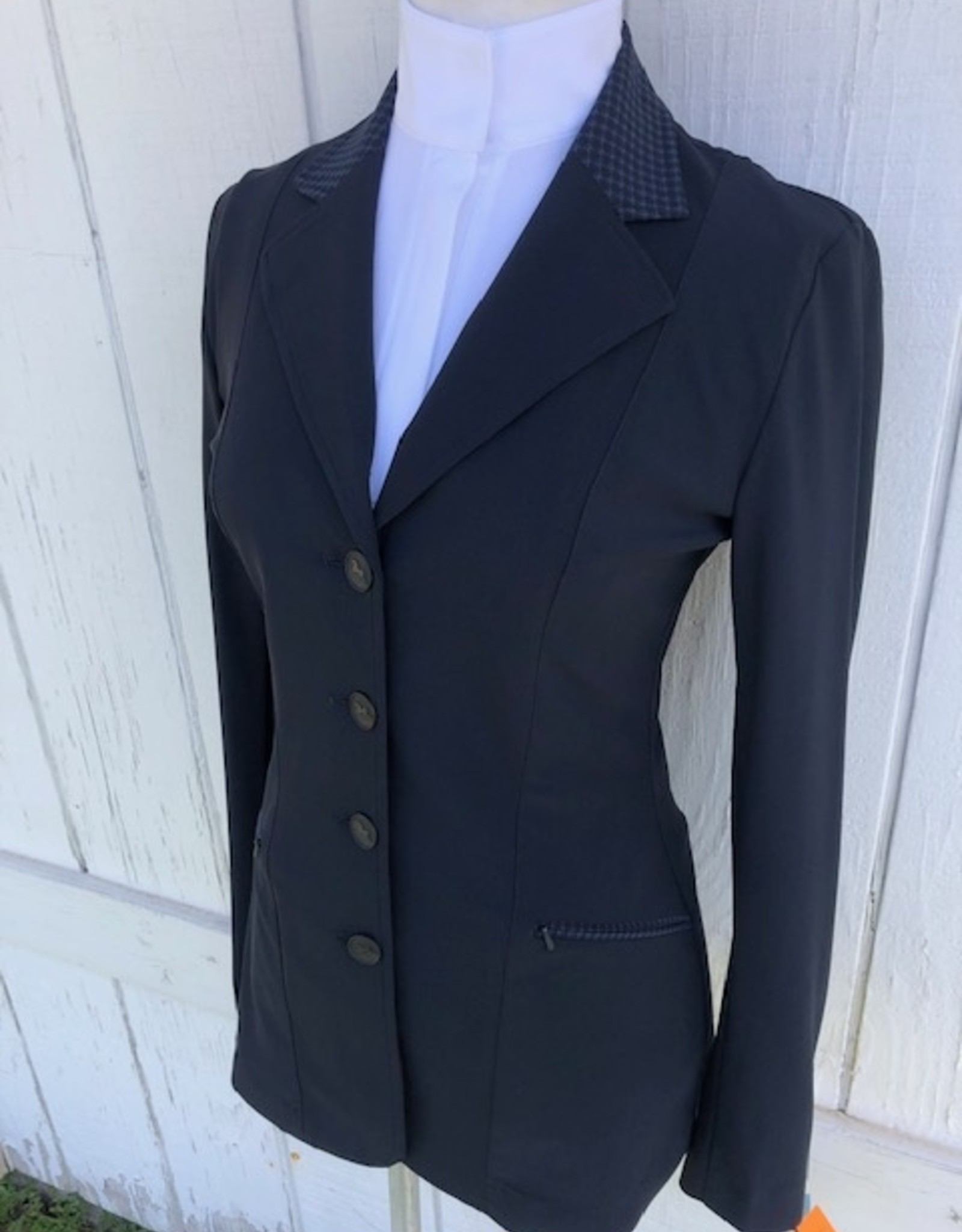 RJ Classics Ladies Victory Houndstooth Collar Coat