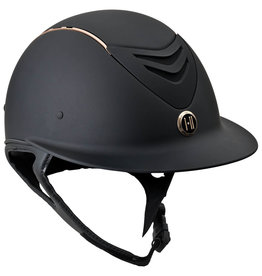 One K Avance Wide Brim Rose Gold Stripe Matte Helmet