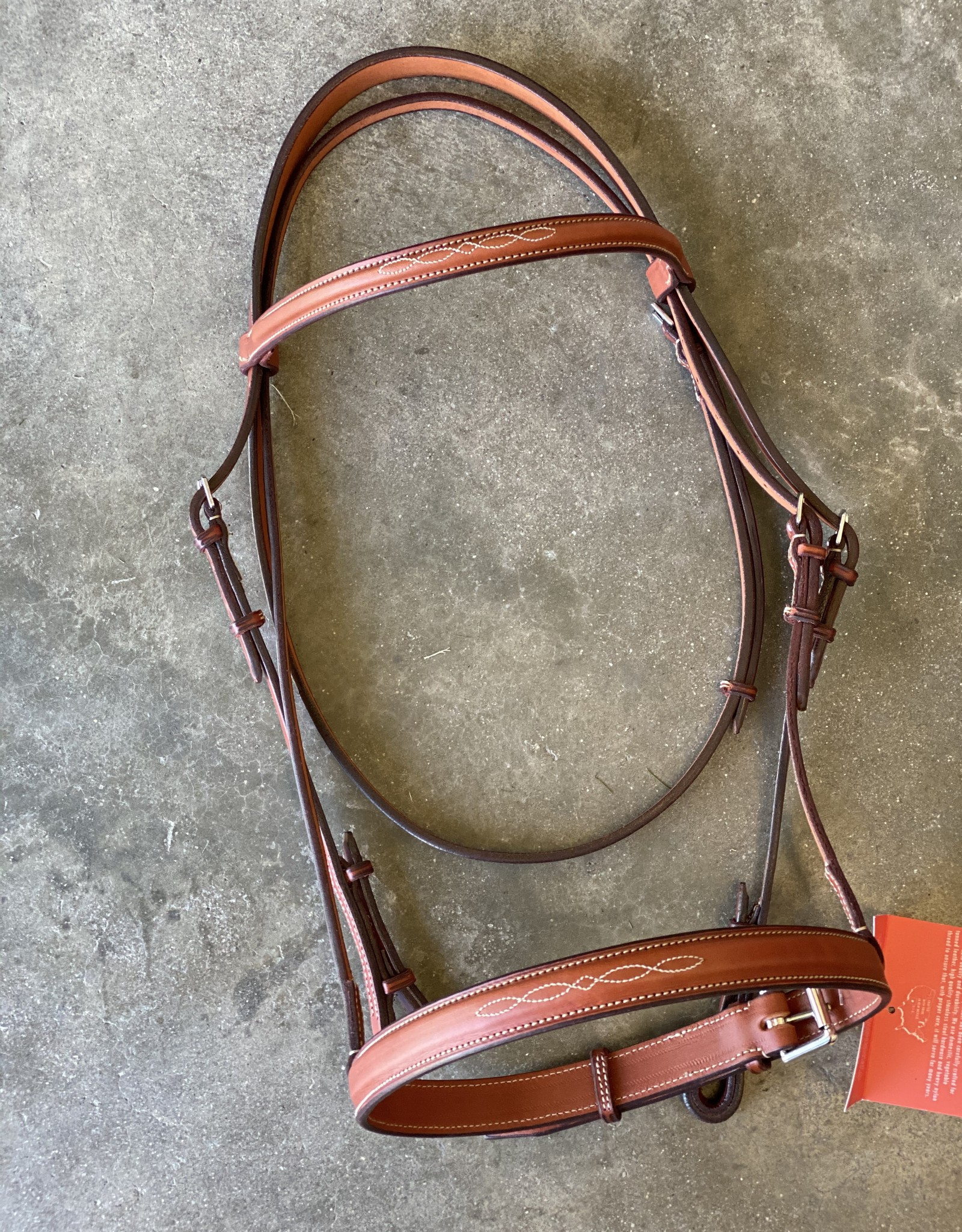 "Edgewood Fancy Stitched 1"" Noseband Headstall"