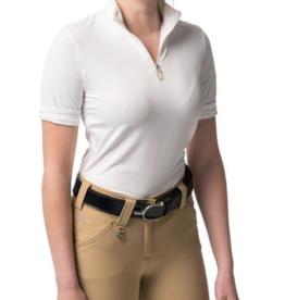 Kastel Ladies' 1/4 Zip Short Sleeve Shirt