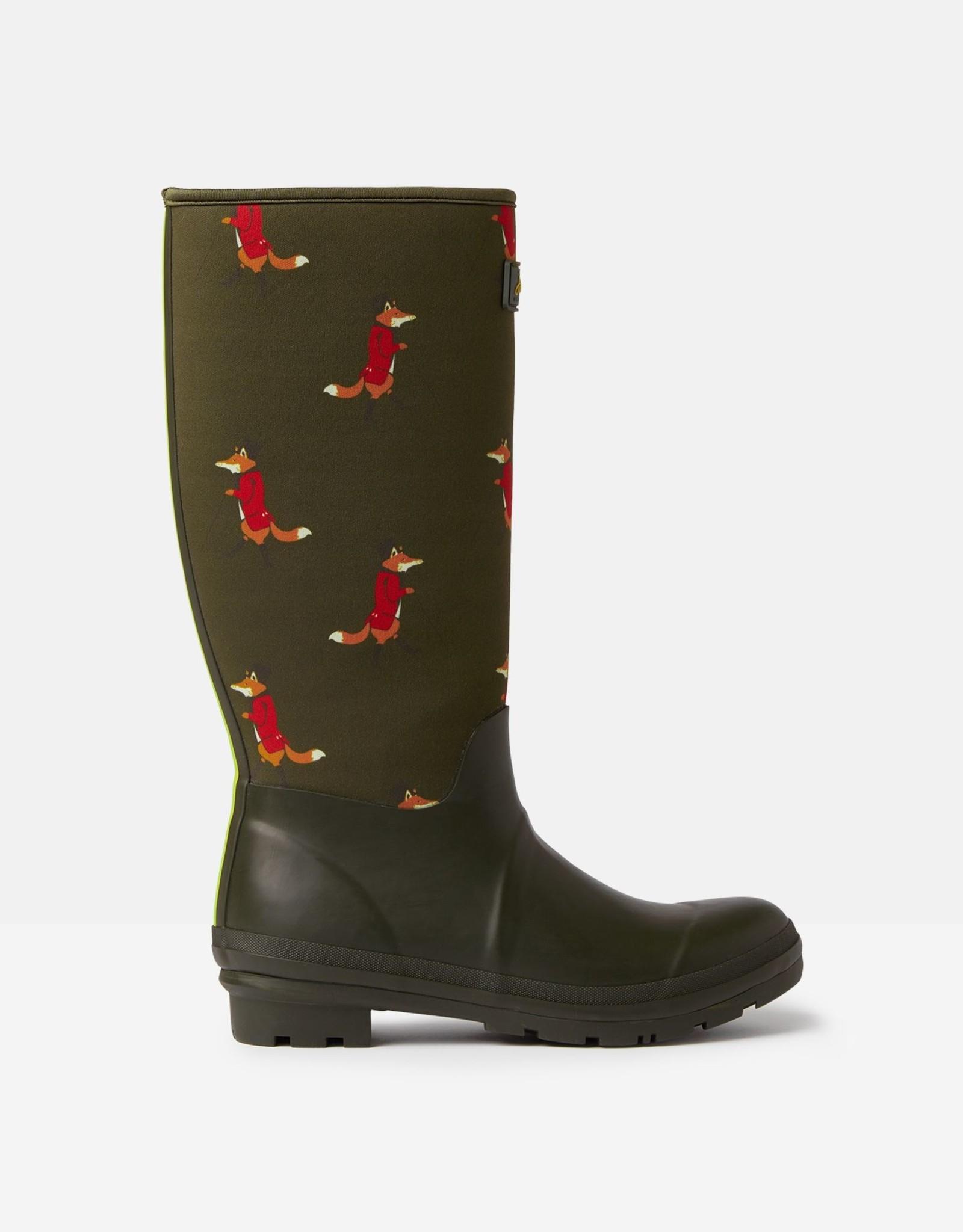 Joules Ladies' Neoprene Printed Rain Boot