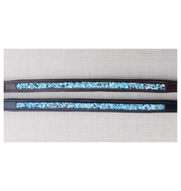 Red Barn Turquoise Stone Padded Browband