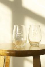 Two Bits Equestrian Two Bits Equestrian Wine Glass