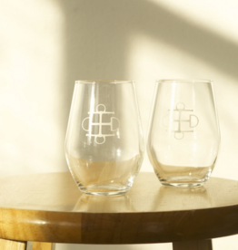 Two Bits Equestrian Two Bits Equestrian Wine Glass