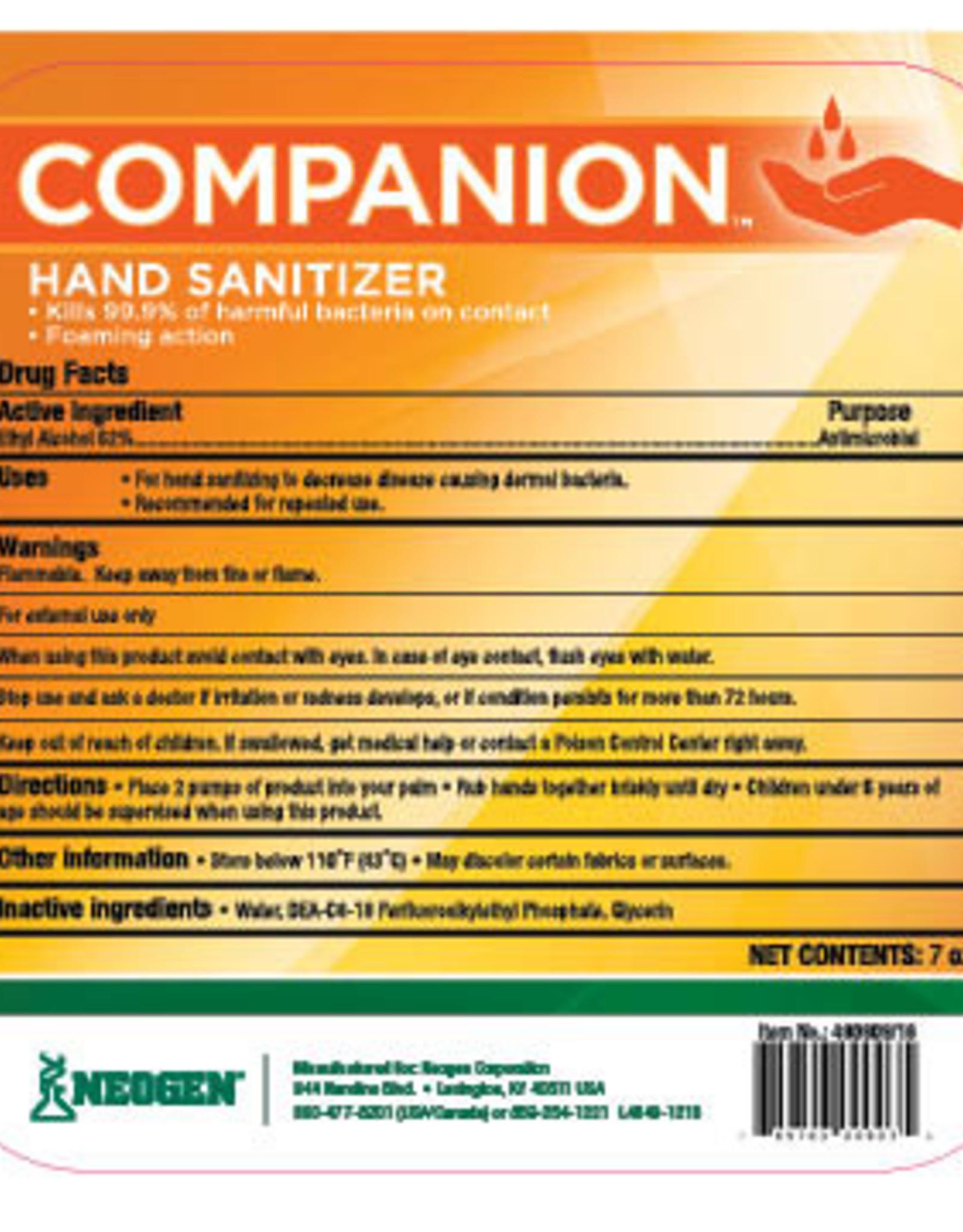 Neogen Companion Hand Sanitizer Foam 7oz