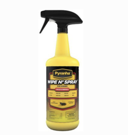 Pyranha Wipe N Spray Fly Repellent - 32oz