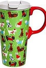 Evergreen Ceramic Boxed Travel Mug