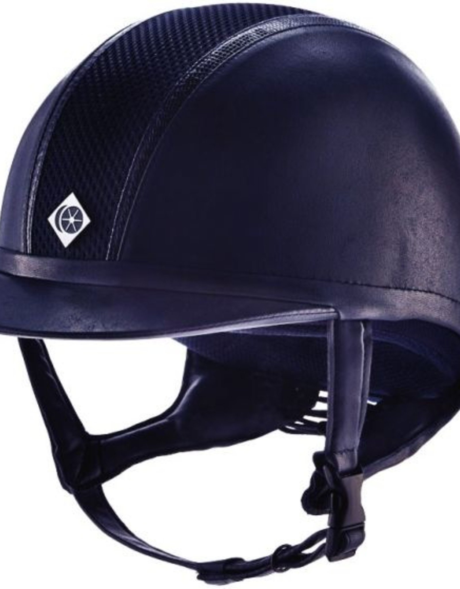 Charles Owen AYR8 Leather Look with Snakeskin Trim Helmet