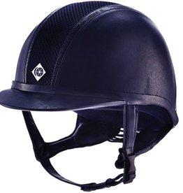 Charles Owen AYR8 Leather Look with Trim Helmet
