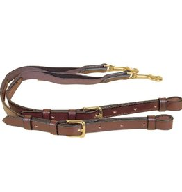 """Tory Leather With Elastic 3/4"""" Pony Side Rein"""