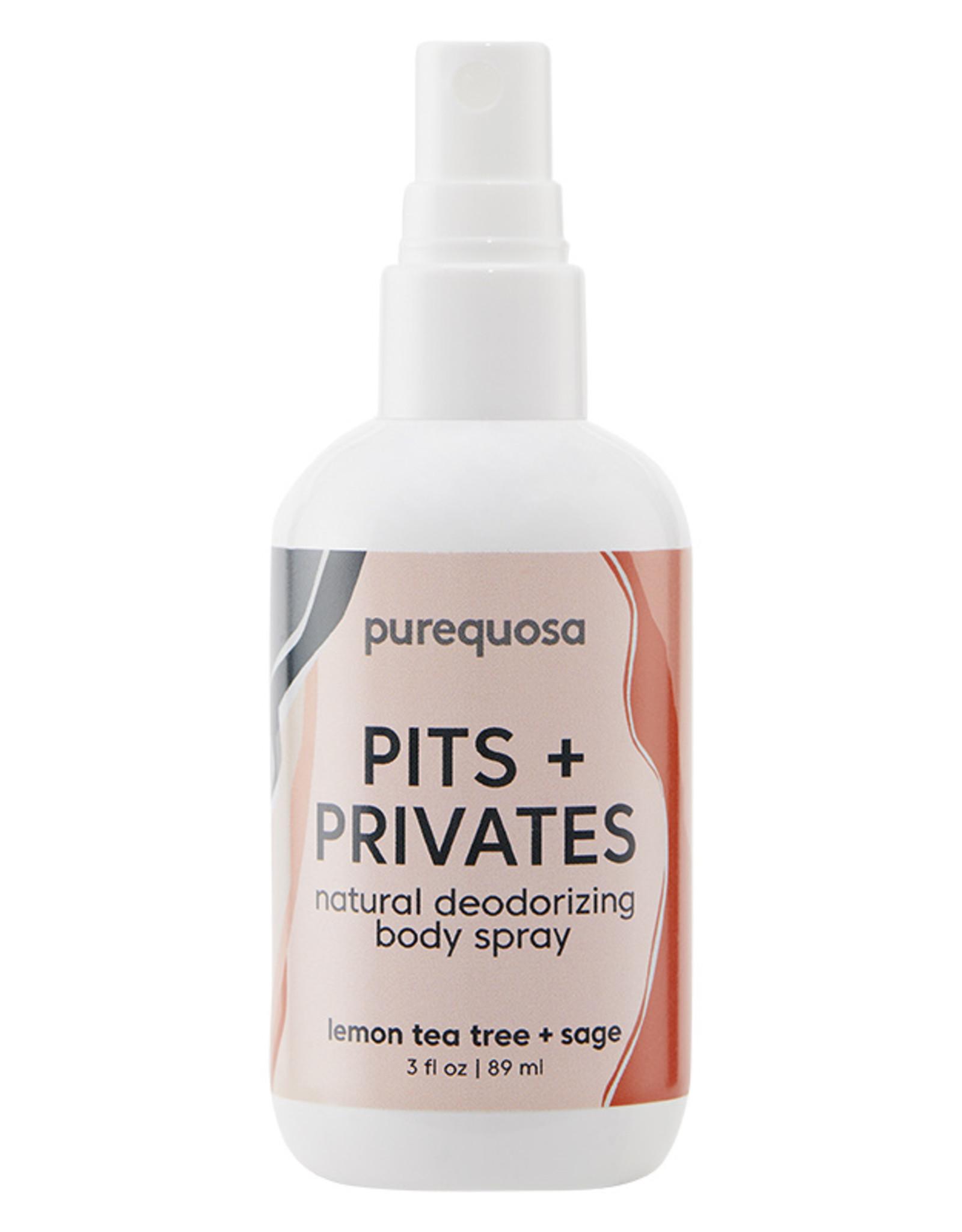 Purequosa Pits & Privates Natural Deodorizing Spray - 3oz