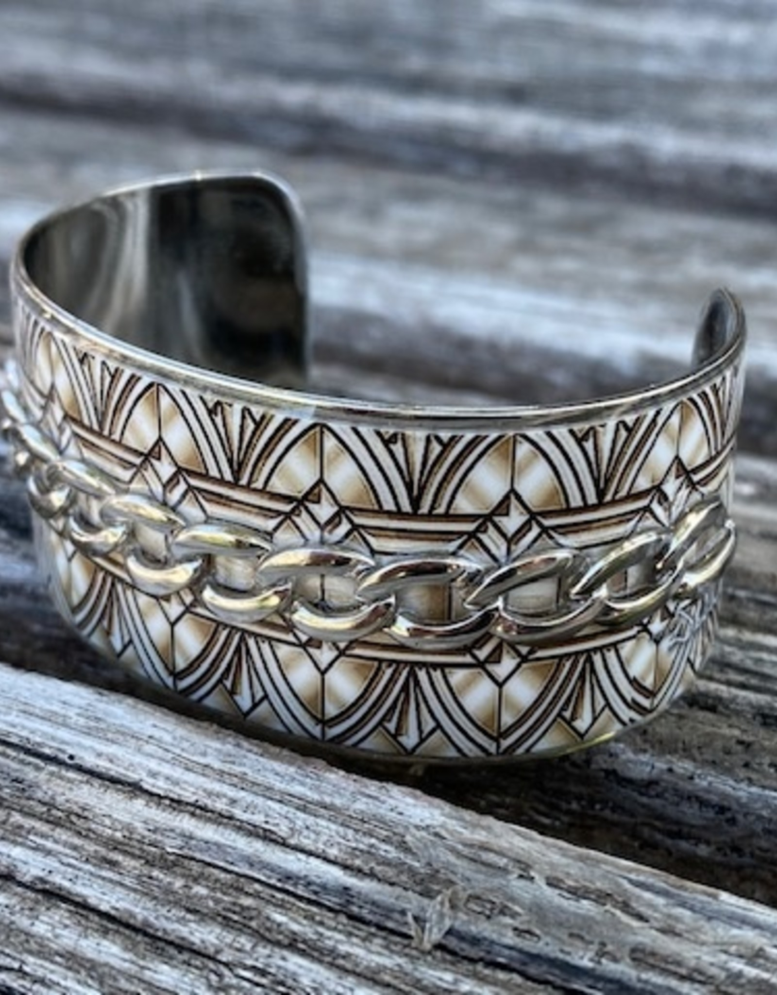 Debbie Brooks Nano Wide Cuff Embellished Bracelet