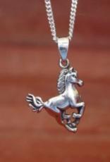 Baron Galloping Horse Pendant Necklace