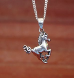 Baron Galloping Horse Pendant Necklace